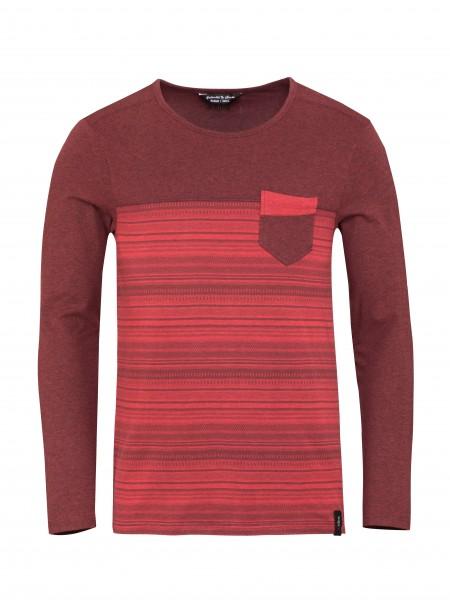 Street Stripes Retro dark red melange/red stripes