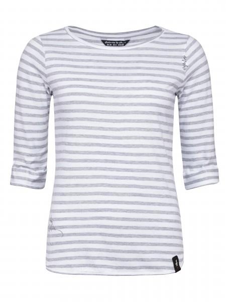 Balanced Stripes creme/grey melange stripes