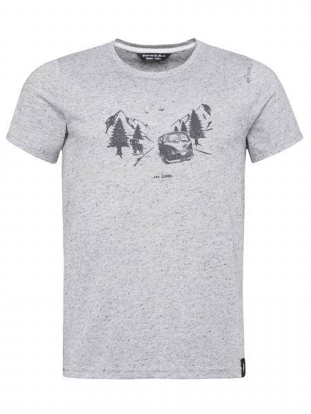 T-Shirt Feel The Spirit ll grey melange
