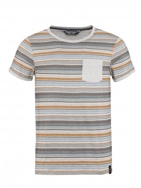 Stripes Retro grey melange