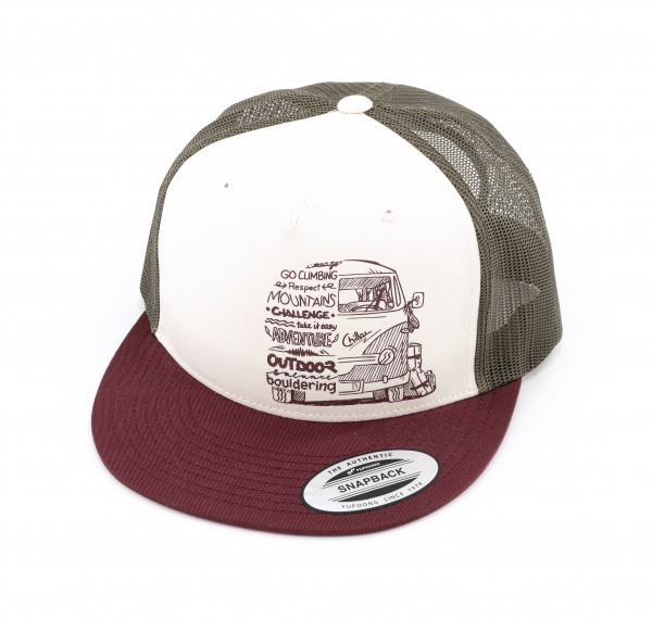 Cap Lettering Bus red/olive