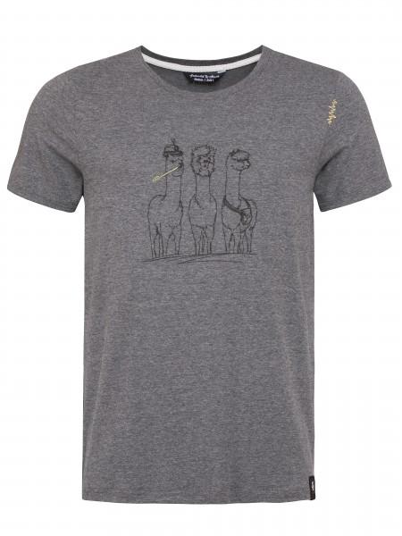 T-Shirt Alpaca Gang anthrazit melange - Vorjahresmodell